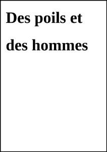 DesPoilsEtHommes