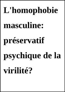 HomophobieMasculine